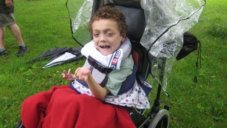 Owen in the rain