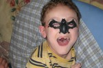 Owen as a bat.  I can't find any pictures of him as a snake.